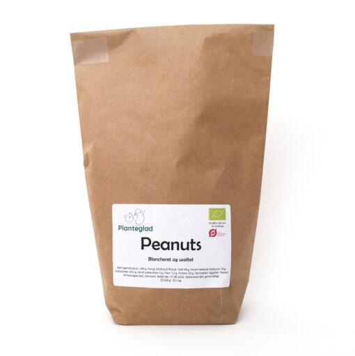 Økologiske peanuts afskallede og usaltede